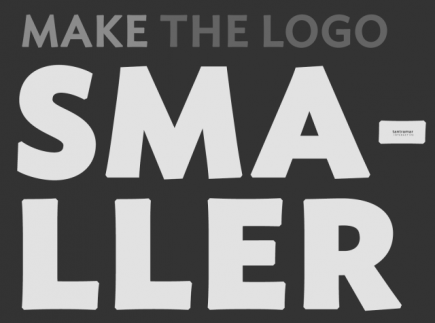 How to make your logo smaller
