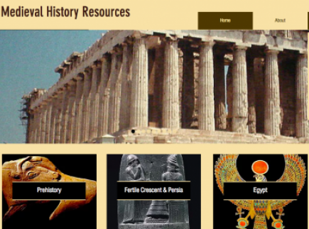 Ancient and Medieval History Resources for Teachers, Students, and Parents