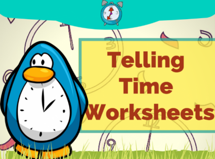 FREE Colorful Printable TellingTime Worksheets - Grade 2 & Grade 3 Share  My Lesson