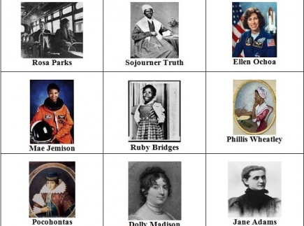Women In History - match cards