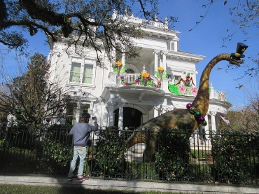 "As big parades and large gatherings are canceled this Mardi Gras season due the pandemic, more energy has been put into ""house floats"" home decorations this year."