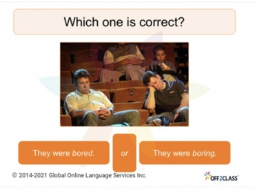 ESL Lesson Download: Adjectives ending in —ed and —ing