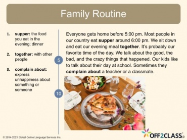 My Family Routine Off2Class Free ESL Lesson Download