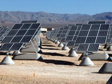 Solar array at Nellis Air Force Base, Nevada.