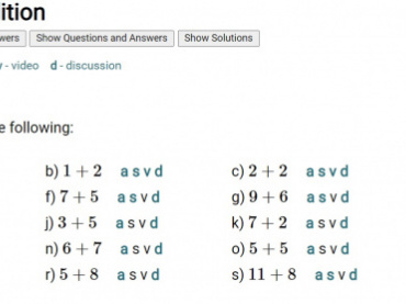 Addition Questions