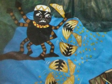 "Sharing Abundance- SEL/ Literacy through the African trickster spider ""Anansi and the Pot of Wisdom"""