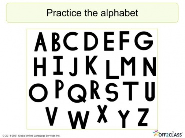 Alphabet 1/3 Free ESL Lesson Plan Download