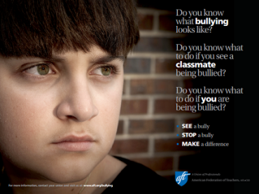 Bullying Poster for Secondary Students