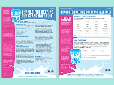 Glass Half Full -- an activity to promote positivity and gratitude