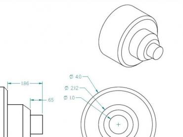 CNC Lathe Blueprint and sample canned cycle programs