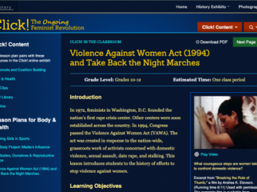 Violence Against Women Act (1994) and Take Back the Night Marches