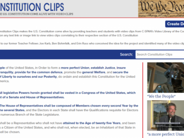 Lesson Plan: Constitution Clips Scavenger Hunt