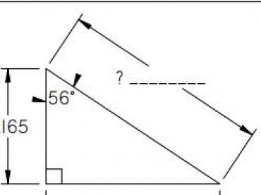Trigonometry: Solving for Hypotenuse using Cosine (Type 2)