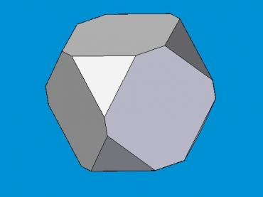 Cube with corners cut off