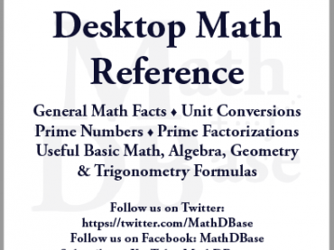 MathDBase Desktop Math Reference