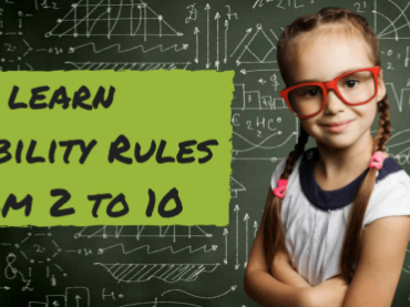 Divisibility rules and printable charts and flash cards