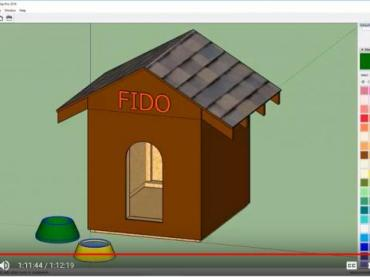 SketchUp: Modeling a Dog House