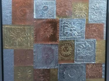 Winter Solstice Embossed Suns
