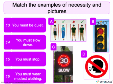Necessity- Must and have to: Off2Class Free ESL Lesson Download