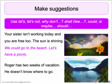 Suggestions-Let's,why don't, shall: Free Off2Class ESL Lesson Download