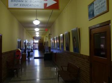Hallway of Former Monroe Elementary School - Brown v. Board of Education Historic Site - Topeka - Kansas - USA