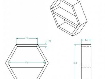 Hexagon Shadow Box Blueprint shop project