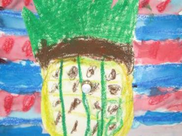 Describe and Draw a Pineapple