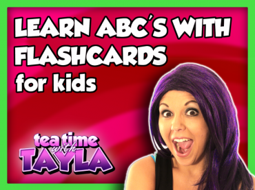 Learn ABC's with Flashcards | ABC Video for Children | Learn English for Kids on Tea Time with Tayla