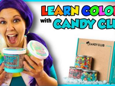 Learn Colors with Candy | Candy Club Unboxing and Taste Test
