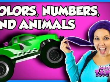 Learn Colors with Monster Trucks and Brain Candy TV | Learn Animals on Tea Time with Tayla