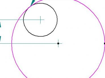 Nested Circles Intersection point calculations