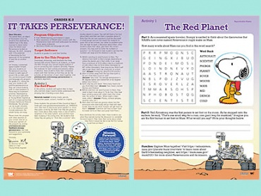 It Takes Perseverance!: Fuel STEAM Learning and Interest in Space with Snoopy!