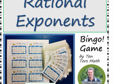 Rational Exponents Bingo Game Activity