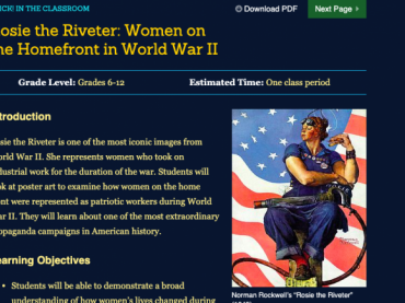 Rosie the Riveter: Women on the Homefront in World War II