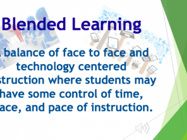 PowerPoint segment from PD session on blended learning