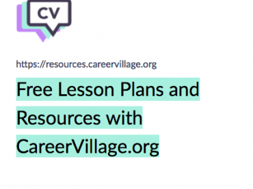 Free Lesson Plans and Educator Resources with CareerVillage.org