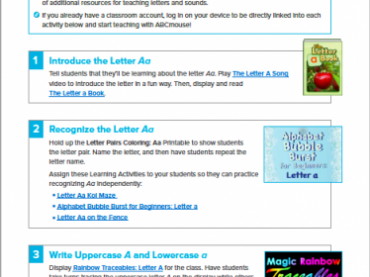 Teaching the Letter A with ABCmouse.com