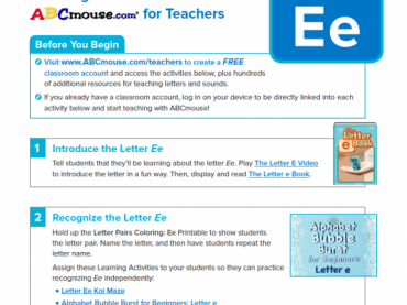 Letter Ee Collection