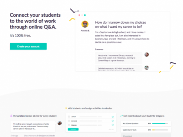 Personalized Career advice for your students with CareerVillage.org