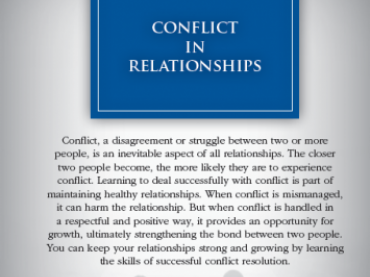 Conflict in Relationships Sample Lesson