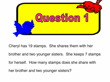 Grade 1-Wits To Work (solving word problems)