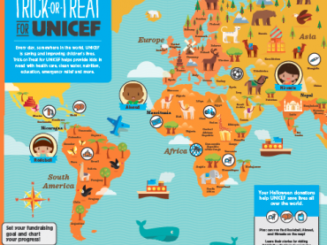Trick-or-Treat for UNICEF World Map