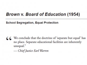 screenshot of pdf - separate but equal has not place.