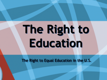 the right to a public education