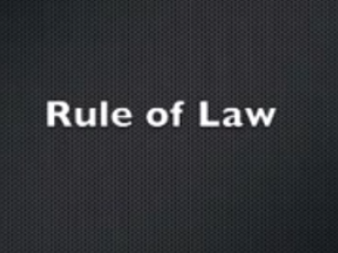 People Power Section 2: Rule of Law