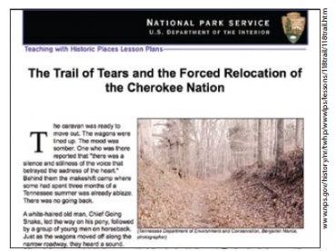 Manifest Destiny and the Cherokee Removal