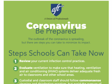 Coronavirus Printables for Schools: Be Prepared - English and Spanish