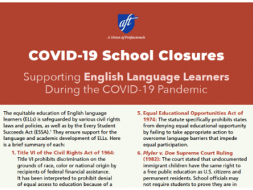 Supporting English Language Learners During the COVID-19 Pandemic