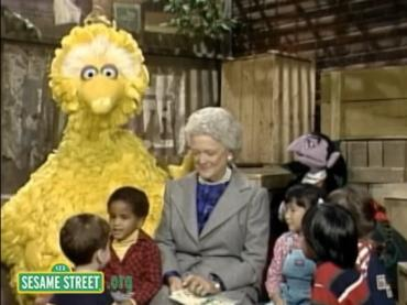 Sesame Street Video: Barbara Bush and Peter's Chair