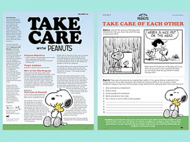 Take Care with Peanuts — Caring for Ourselves, Each Other and the World Around Us
